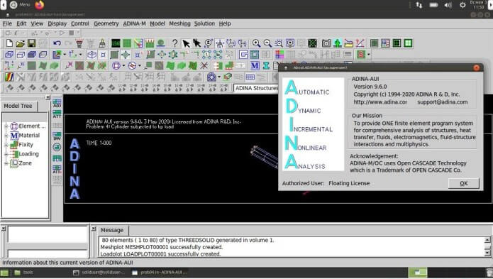 ADINA System 9.6.3 Crack With License Key Free Download